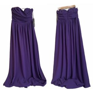 Lulus bridesmaid maxi dress purple small NWT